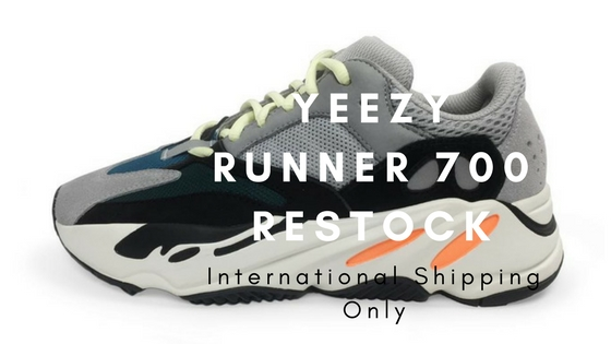 YeezyBOOST Runner 700 goes on stock for International Shipping Only!