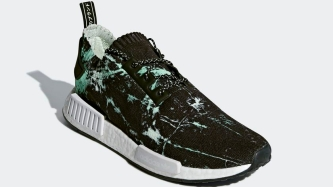 NMD R1 Green Marble Flash BB7996 slant side